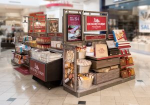Photo of product display inside Hickory Farms store