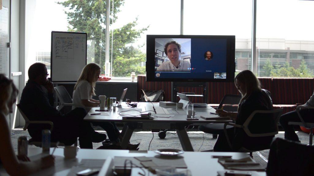 WE co-founder Craig Kielburger shown in a Skype conversation
