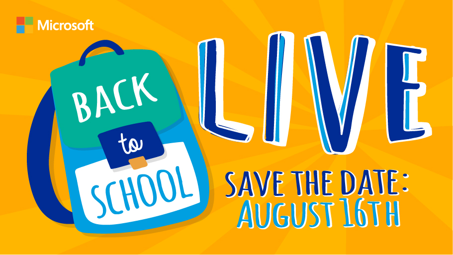Back to School LIVE promo for Facebook starting Aug. 16, 2017