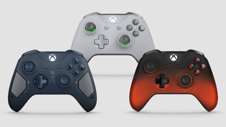 Three Xbox controllers available in August 2017