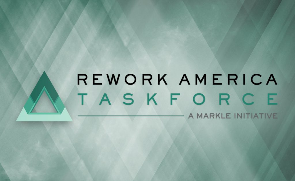 Logo for the new Rework America Task Force
