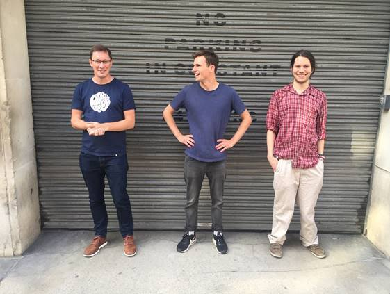 From left, CTO James Arthur, CEO and cofounder Harry Keen and Dr. Fintan Nagle of Hazy