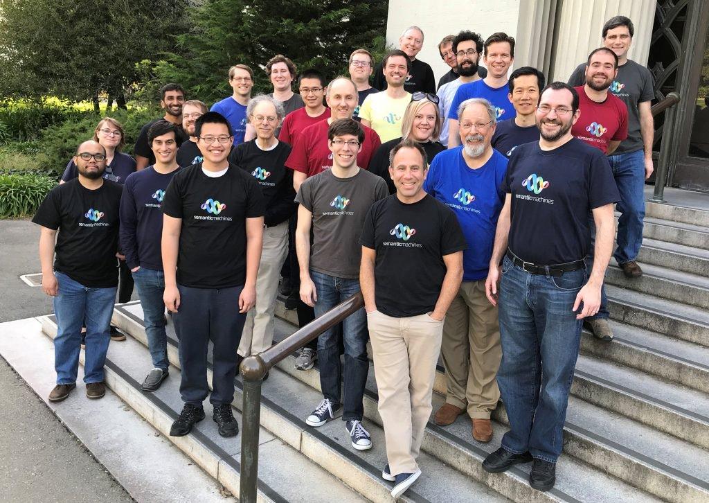 Group shot of team members from Semantic Machines.