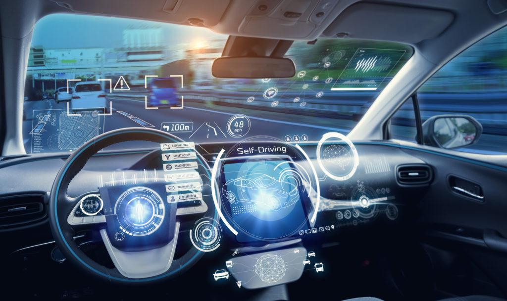 Dashboard of self-driving auto