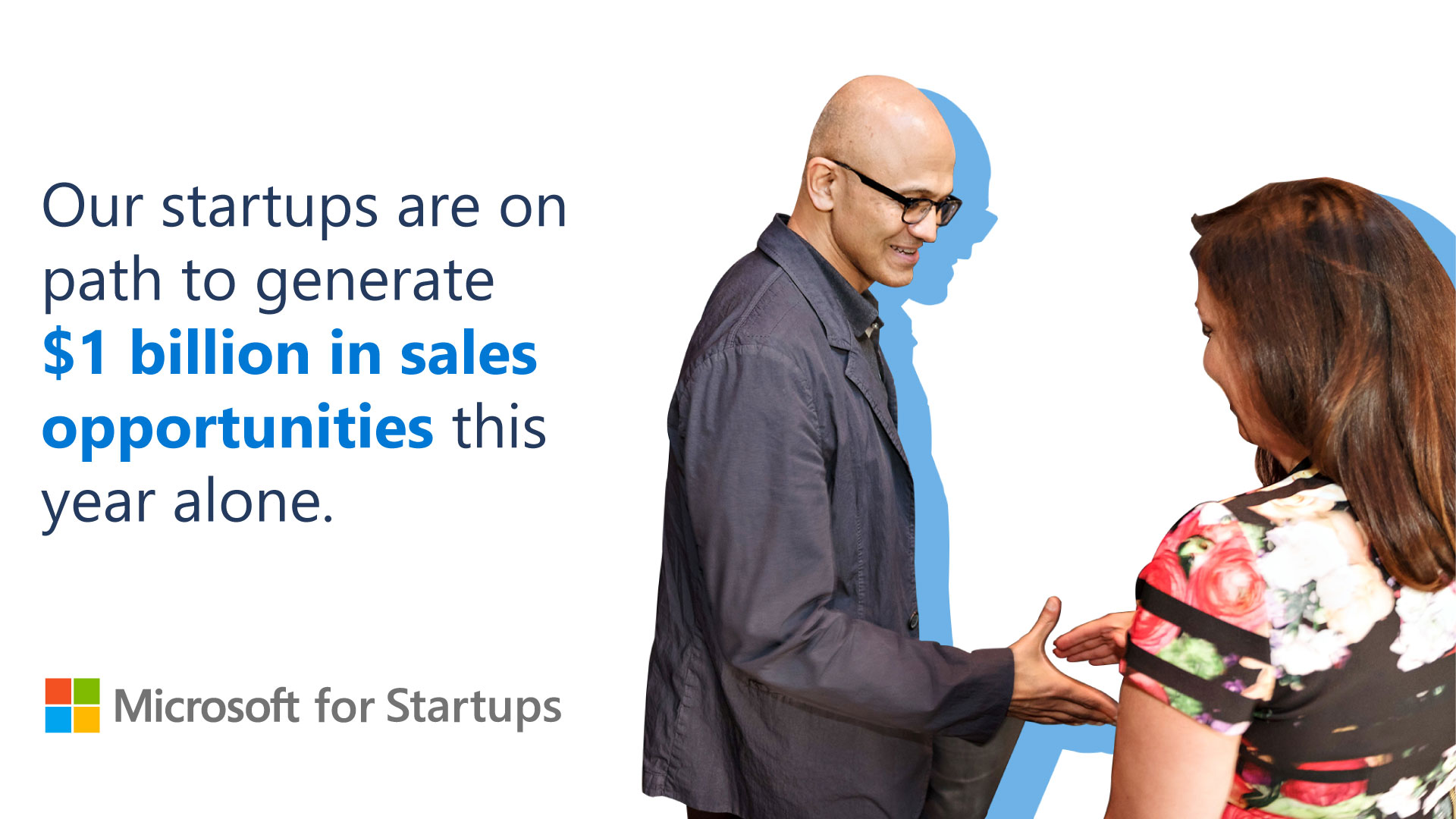 Satya Nadella in startup promotion
