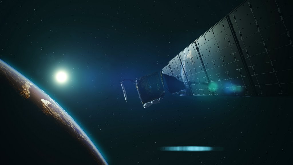 Space satellite illustration