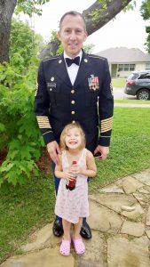 Michael Warren and his daughter