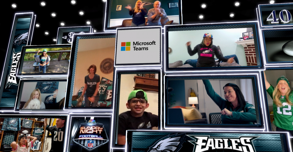 NFL and Microsoft Teams screen collage